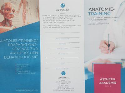 Anatomietraining Praeparationskurs 2020 Flyer
